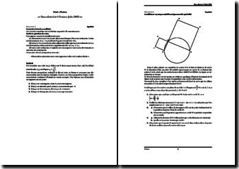 Baccalauréat série S France juin 2005 : mathématiques