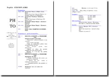Modèle de CV (graphisme 5)