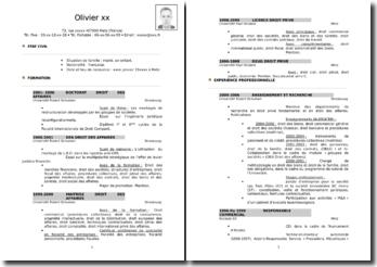 Modèle de CV de juriste