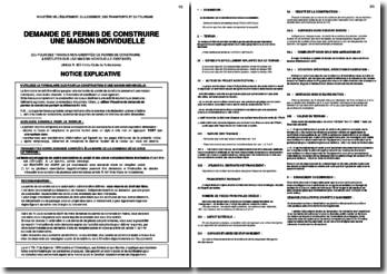 Notice de demande de permis de construire une maison individuelle