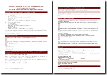 Contrat de sous-traitance en BTP simplifié