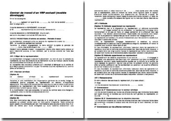 Contrat de travail d'un VRP