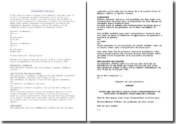 Contrat de PACS