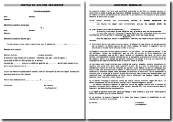 Contrat de location saisonnier (version 2)