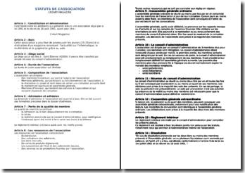 Les Statuts D Association Loi 1901
