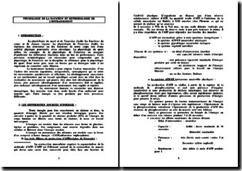 NATATION - Physiologie et méthodologie de l'entrainement