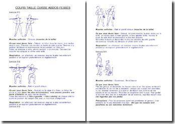 MUSCULATION: Exercices pour taille, cuisses, abdos, et fessiers