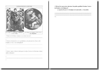 Commentaire d'oeuvres de Cimabue et Raphaël