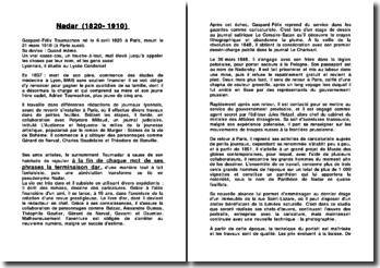 Biographie de Nadar (1820-1910)