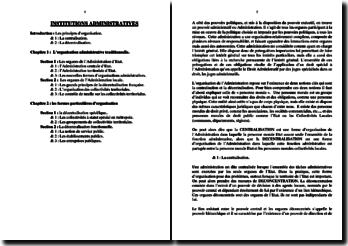 Institutions administratives françaises