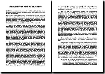 Actualisation en droit des obligations (2008)