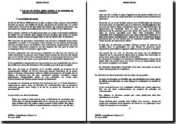 Actualité du droit pénal 2008