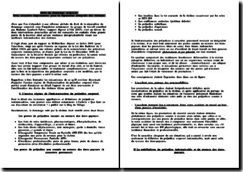 dissertation accident du travail et réparation intégrale