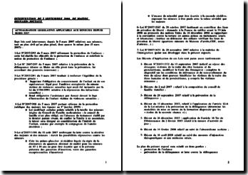 La loi de mars 2007 applicable aux mineurs