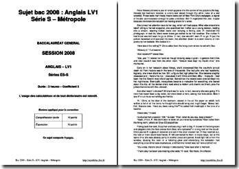 Anglais LV1 Série S 2008