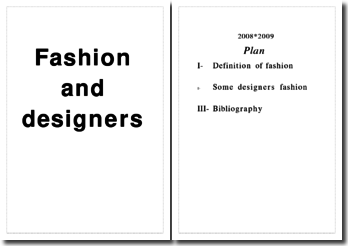 Fashion and designers
