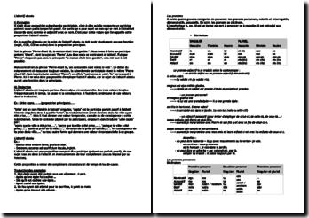 L'ablatif absolu, les pronoms, la proposition infinitive, l'adjectif,les prépositions, le supin et les participes
