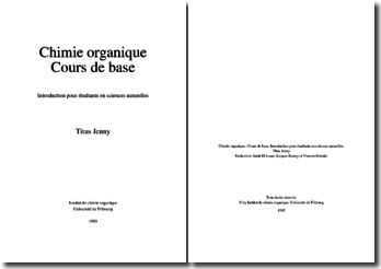 Cours de chimie organique