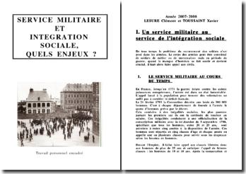 Service militaire et intégration sociale, quels enjeux ?