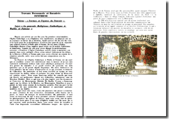 Synthèse de TPE sur le pouvoir religieux à Wallis et Futuna