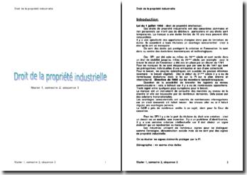 Droit de la propriété industrielle (version 2)