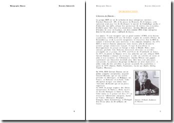 Monographie de l'entreprise Danone