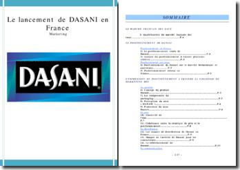 Le lancement de DASANI en France