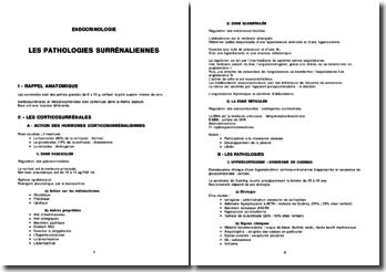 Les pathologies surrénaliennes