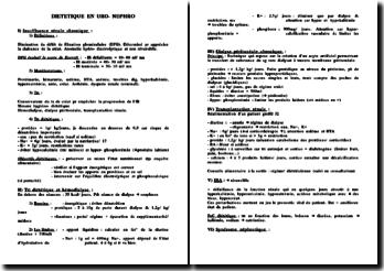 Diététique en uro-néphro
