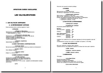 Les valvulopathies