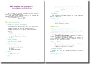 Les broncho-pneumopathies chroniques obstructives