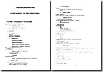Sémiologie en pneumonie