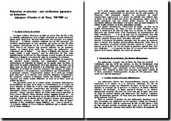 Sinisation et réaction : une civilisation japonaise en formation (époques d'Asuka et de Nara, VII-VIIIe s.)
