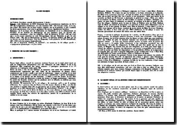 La loi salique - origine, droit pénal et procédure