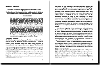 The Mendicants' Missionary Activities and Strategies in Moldavia from the XIII th to the First Half of the XVth centur