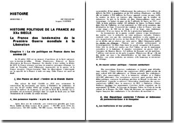 Histoire Politique de la France au XX siècle