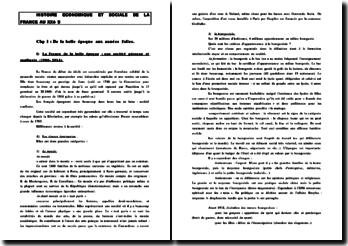 Histoire socioéconomique de la France au XXème