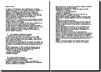 La charte de 1814