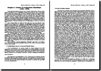 L'échec de la Quatrième République (1954 ? 1958)