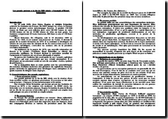 Histoire sociale de la France de 1848 à 1914 - Les grands patrons à la fin du XIXe siècle : l'exemple d'Henri Schneid