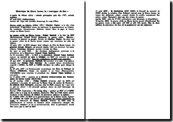 Chronologie de l'histoire du Sierra Leone, la « montagne du lion »