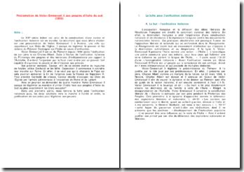 Proclamation de Victor-Emmanuel II aux peuples d'Italie du sud (1860)