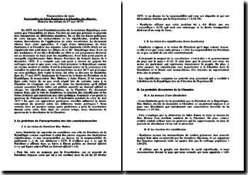 Commentaire de texte : Intervention de Léon Gambetta à la Chambre des députés (Extraits des débats du 17 mai 1877)