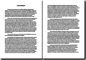 L'accord Matignon