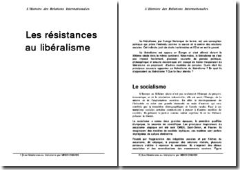 Les résistances au libéralisme durant le XIXème siècle