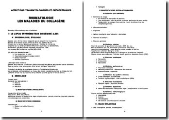 Les maladies du collagène