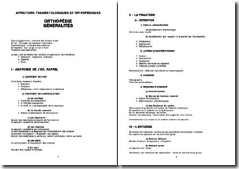 Orthopédie - Généralités