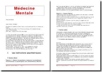 Médecine mentale et aspect criminel