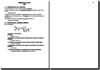 Chimie - Nomenclature chimique