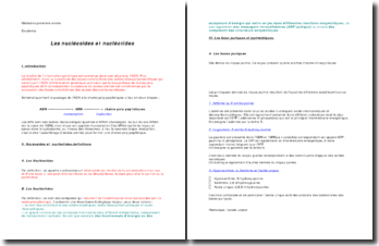 Les nucléosides et nucléotides